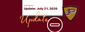 School Reopening Update: July 21, 2020