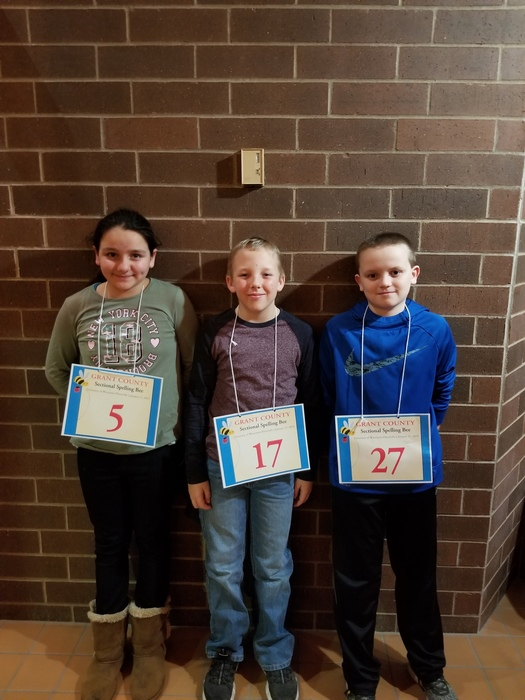 Sectional Spelling Bee Students