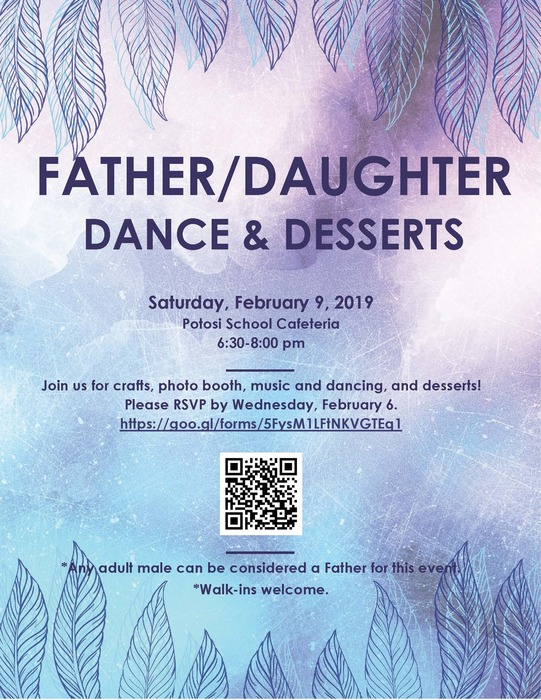 Father Daughter Dance & Desserts Flyer