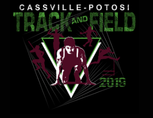 Cassville-Potosi Track and Field Logo