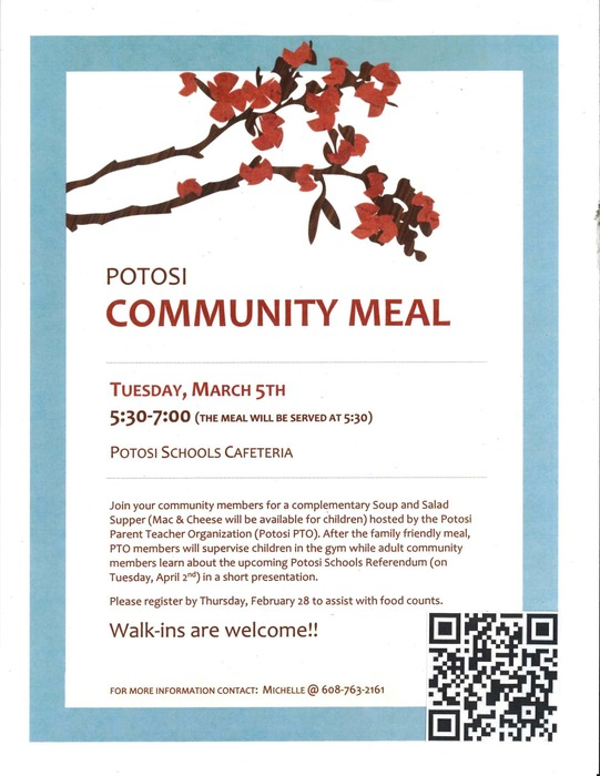 PTO Community Meal Information